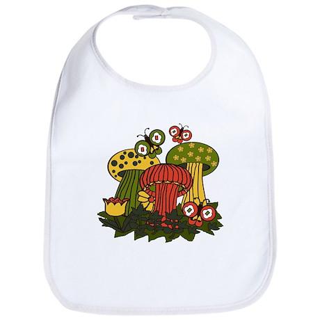 Magic Mushrooms Bib