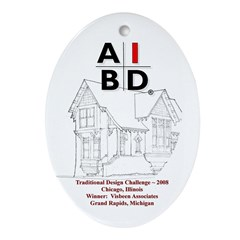 AIBD Oval Ornament