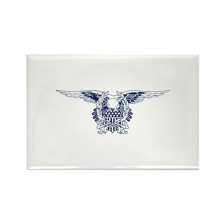 Blue American Eagle Rectangle Magnet (10 pack)