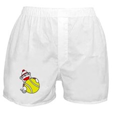 Sock Monkey with Tennis Ball Boxer Shorts