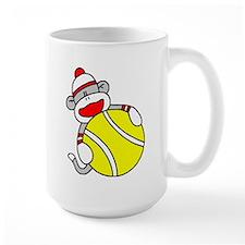 Sock Monkey with Tennis Ball Mug