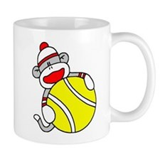 Sock Monkey with Tennis Ball Mug