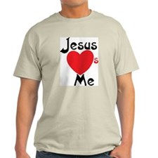 Jesus Loves Me Ash Grey T-Shirt
