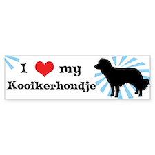 I Love my Kooikerhondje Bumper Car Sticker
