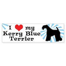 I Love my Kerry Blue Terrier Bumper Bumper Sticker