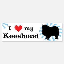 I Love my Keeshond Bumper Bumper Bumper Sticker