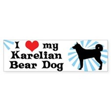 I Love my Karelian Bear Dog Bumper Car Sticker
