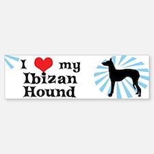 I Love my Ibizan Hound Bumper Bumper Bumper Sticker