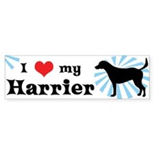 I Love my Harrier Bumper Bumper Sticker