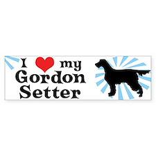 I Love my Gordon Setter Bumper Bumper Sticker