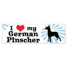 I Love my German Pinscher Bumper Bumper Sticker