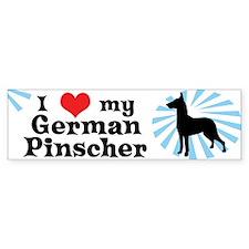 I Love my German Pinscher Bumper Car Sticker