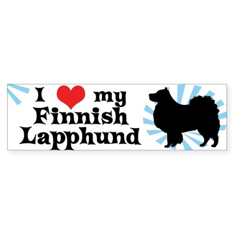 I Love my Finnish Lapphund Bumper Sticker