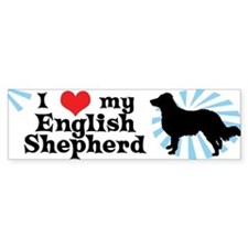 I Love my English Shepherd Bumper Bumper Sticker