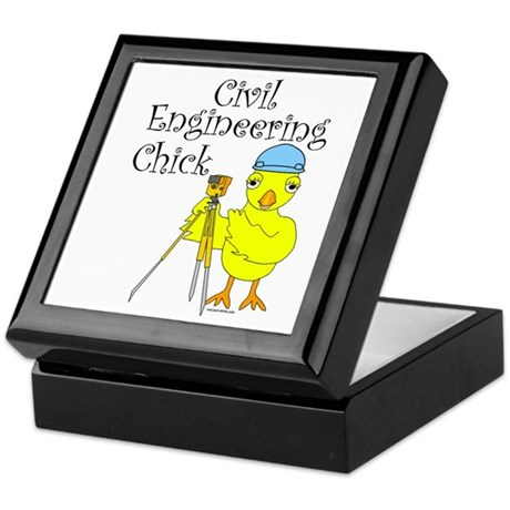 Civil Engineer Chick Keepsake Box