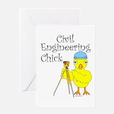 Civil Engineer Chick Greeting Card