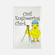 Civil Engineer Chick Rectangle Magnet