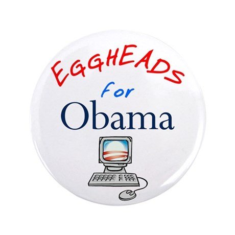 "Eggheads for Obama 3.5"" Button (100 pack)"