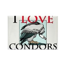 I Love Condors Rectangle Magnet