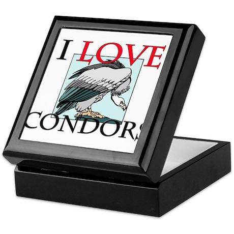 I Love Condors Keepsake Box