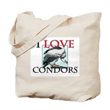 I Love Condors Tote Bag