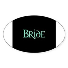 Green Morpheus Bride Oval Decal