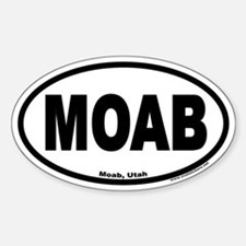 MOAB Euro Oval Bumper Stickers