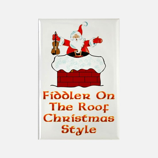 Christmas Fiddler on the Roof Rectangle Magnet