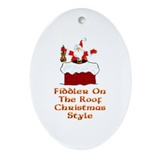 Christmas Fiddler on the Roof Oval Ornament