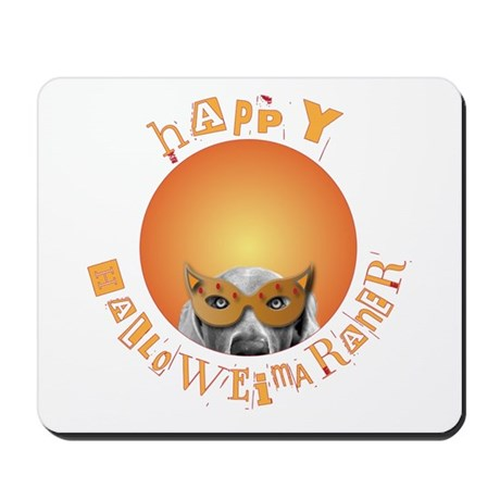 Happy Halloweimaraner! Mousepad
