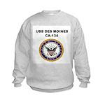 USS DES MOINES Kids Sweatshirt