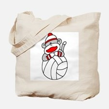 Sock Monkey Volleyball Tote Bag