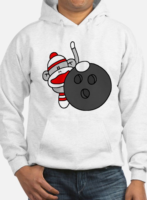 Sock Monkey with Bowling Ball Hoodie