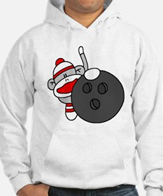 Sock Monkey with Bowling Ball Jumper Hoody