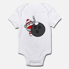 Sock Monkey with Bowling Ball Infant Bodysuit