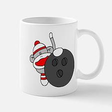 Sock Monkey with Bowling Ball Mug