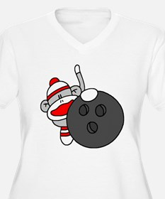 Sock Monkey with Bowling Ball T-Shirt