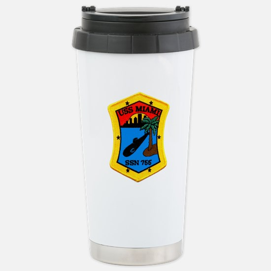 USS Miami SSN 755 Stainless Steel Travel Mug