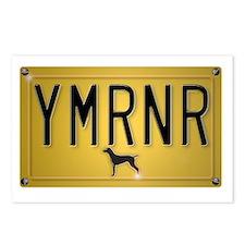 YMRNR License Plate Postcards (Package of 8)