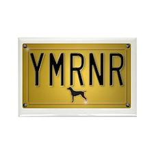 YMRNR License Plate Rectangle Magnet