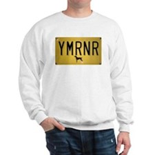 YMRNR License Plate Sweatshirt