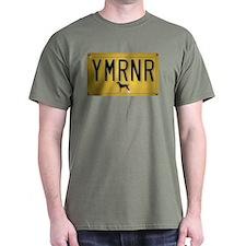 YMRNR License Plate T-Shirt