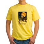 Witches Riding By Yellow T-Shirt
