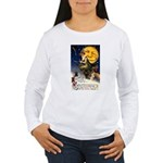 Witches Riding By Women's Long Sleeve T-Shirt