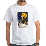Witches Riding By White T-Shirt
