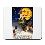 Witches Riding By Mousepad