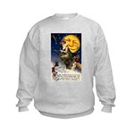 Witches Riding By Kids Sweatshirt