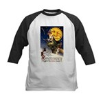 Witches Riding By Kids Baseball Jersey