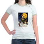 Witches Riding By Jr. Ringer T-Shirt
