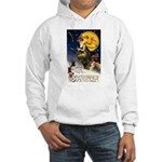 Witches Riding By Hooded Sweatshirt